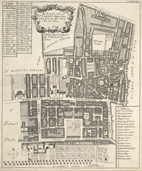The parish of St. James's, Westminster taken from the last survey with corrections (1720)